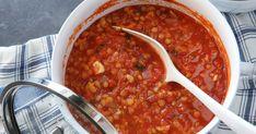 Chana Masala, Lchf, Baking Recipes, Veggies, Vegetarian, Ethnic Recipes, Chili, Veganism, India