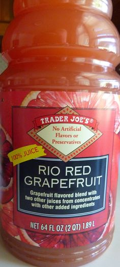 What's Good at Trader Joe's?: Trader Joe's Rio Red Grapefruit Juice How To Eat Grapefruit, Grapefruit Juice, Best Smoothie Recipes, Good Smoothies, Juice Recipes, Red Juice Recipe, Halal Snacks, Jitter Juice, Pumpkin Juice