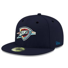 pretty nice f3a50 eac31 Oklahoma City Thunder New Era Official Team Color 59FIFTY Fitted Hat - Navy