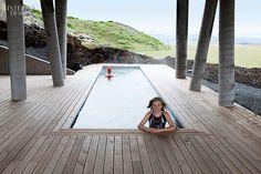 Ion Luxury Adventure Hotel by Minarc in Nesjavellir, Iceland. #design #interiordesign #interiordesignmagazine #architecture #hotel #pool