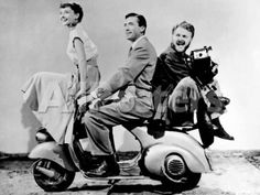 "Audrey Hepburn, Eddie Albert, Gregory Peck. ""Roman Holiday"" 1953, Directed by William Wyler People Photographic Print - 30 x 23 cm"