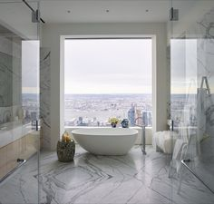 The 432 park avenue sky scraper is situated in new york and it is the tallest residential building of the world. here are some 432 park avenue interiors which you should definitely see! 432 Park Avenue, Kelly Behun, Luxury Penthouse, Manhattan Penthouse, Style Deco, Pent House, Architectural Digest, Beautiful Bathrooms, Bathroom Interior Design