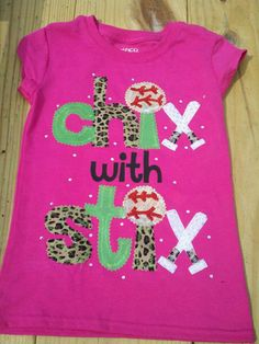 Softball Shirt Chix with Stix by DeCoop on Etsy, $23.00
