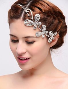 Silver /Red /Gold Charm Butterfly Bridal Tiara Czech Rhinestone Crystal Wedding Hair Tiaras Hair Jewelry Free Shipping-in Hair Jewelry from Jewelry on Aliexpress.com | Alibaba Group