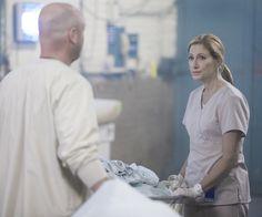 "Matt Maher as Matt and Edie Falco as Jackie Peyton in ""Nurse Jackie. Nurse Jackie, Being Ugly, Fiction, Fiction Writing, Science Fiction"