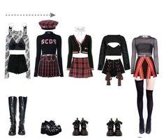 Korean Outfits Kpop, Kpop Fashion Outfits, Stage Outfits, Edgy Outfits, Mode Outfits, Dance Outfits, Cute Casual Outfits, Girl Outfits, Korean Girl Fashion