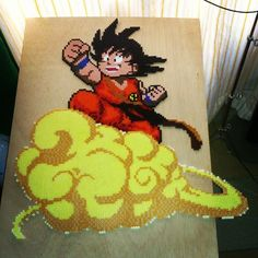Son Goku Dragon Ball hama beads by xaviml