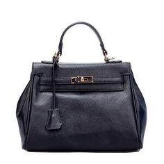 Dámské kabelky · Černá kožená dámská kabelka Gita bb930358cd7