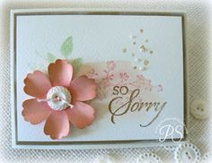 Stampsnsmiles: So Sorry....with Stampin' Up's! blossom punch, stamps, ink, and cardstock