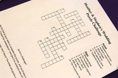 Riddle Me This: Surprise Your Guests With a Puzzle! - Our Finest Wedding Ideas & Planning Advice