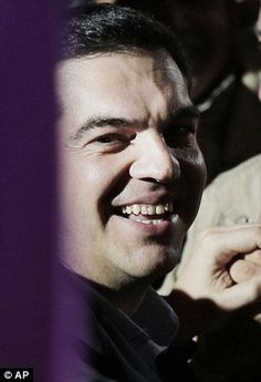 Congratulated: At the age of 40, Syriza party leader Alexis Tsipras, 40, is due to become ...