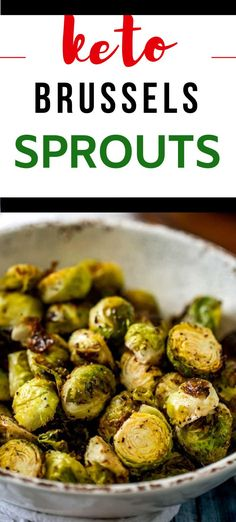 You are going to fall in love with these Keto Brussels Sprouts! These smokey sprouts are crispy on the outside and perfectly tender on the inside. You can roast them in the oven, or make them in your Air Fryer. It is the perfect low carb side dish that works well for all types of diets. #keto #airfryer Easy Vegetable Recipes, Sprout Recipes, Vegetable Dishes, Low Carb Vegetables, Veggies, Steak Sides, Homemade Mayonnaise, Low Carb Side Dishes, Healthy Dishes