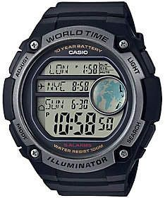 Casio Men's Black World Time Watch