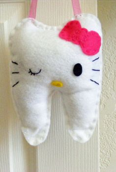 Hello Kitty Tooth Fairy Pillow PERSONALIZED by fiftyshadesoffelt, $20.00