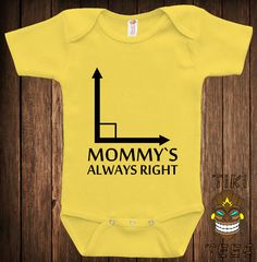 Funny Bodysuit Baby Child Infant One-piece Mommy's Always Right Cute Geometry Angles School Geek Nerd Math Science Joke Fun Awesome Cute