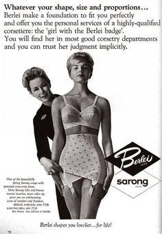 vintage-review:    Berlei, vintage lingerie
