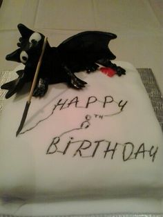 Toothless Cake, How to train your Dragon.