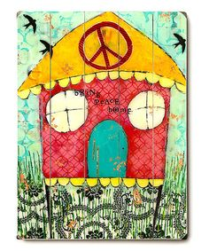 Take a look at this 'Bring Peace Home' Wall Art by ArteHouse on #zulily today!