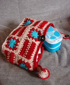 bento lunch bag by Girlontherocks, via Flickr