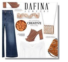 """""""Dafina Jewelry"""" by sans-moderation ❤ liked on Polyvore featuring 7 For All Mankind, MICHAEL Michael Kors and Coach 1941"""