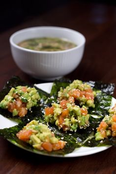 Salmon Avocado and Natto Seaweed Wrap recipe. Ready in 10 minutes, this is a super healthy, light and delicious meal. Healthy Eating Recipes, Healthy Meal Prep, Healthy Snacks, Gourmet Recipes, Healthy Foods, Baking Recipes, Healthy Life, Keto Recipes, Healthy Living