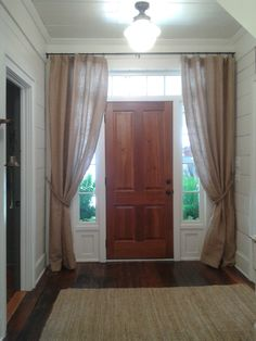 curtains by door/hallway - 2012 Southern Living Idea House