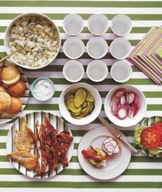 How to Set Up a Family-Friendly BLT Sandwich Bar | Think you know the ABC's of BLTs? Think bigger—like a scoop of luscious egg salad. To please the whole gang, host a DIY buffet with all the BLT fixin's—and then some.