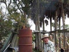 another Australian project: John Rogers' 14-minute video demonstrates barrel-on-barrel kilns in his sylvan hideaway.