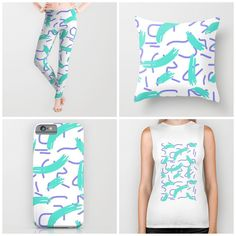 """SUPAKID on Instagram: """"New things with my #patterns available at @society6 get it at society6.com/supakid  #pattern #design #art #iphone #case #society6 #puertorico #color #teal #colorseeker #pillow #design #tshirt #ootd #ootn #leggings #supakid #awesome #girl"""""""