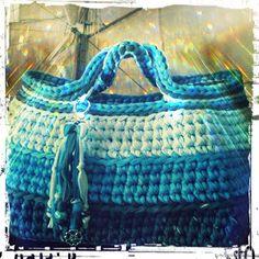 BellezaSul: Bolsa em Crochê - Fios de Malha