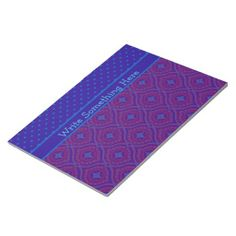 Shop Notepad or Jotter, Purple and Blue Ogees, Polkas created by poshandpainterly.