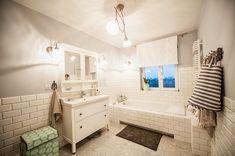 Interior bathroom in the Scandinavian style #bathroom #ikea #design #interiors