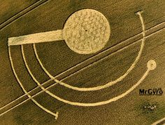 Crop Circle at Welsh Way, nr Barnsley, Gloucestershire, United Kingdom. Reported 22nd July 2014