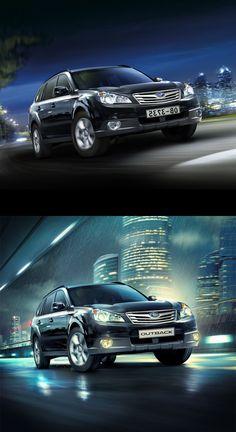 Before-After compilation #1 Cars ads by Denis Kornilov, via Behance