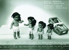 Analola, Annie og Elise - Hawaii dukker fra Åsmund S.  Lærdal
