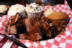 It's almost gross how much I love bbq, especially brisket. Famous Dave's is surprisingly good.