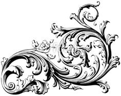 filigree drawing   Floral Scroll from aves, Royalty-free vector #22188269 on Fotolia.co ...