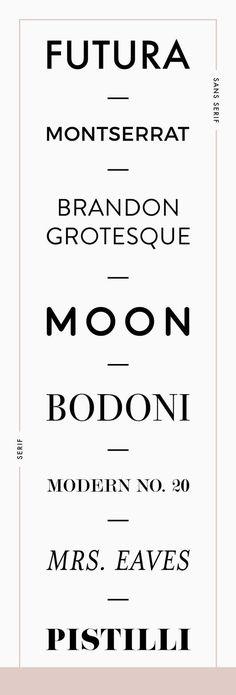 favorite fonts for branding | font pairing guide | sans serif vs serif fonts | Reux Design Co.