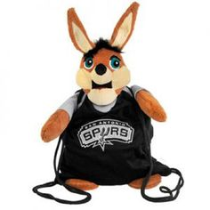 San Antonio Spurs Plush Mascot Backpack Pal #SanAntonioSpurs