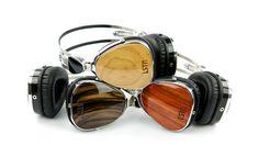 Audífonos de madera LSTN. http://www.lstnheadphones.com