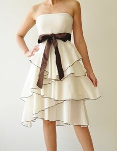 Waft    White Cocktail Dress 2 Sizes Available by aftershowershop, $45.00  ...I wish I had a reason to buy this!