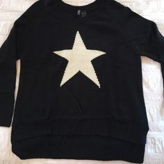 Spotted while shopping on Poshmark: Black Graphic Sweater! #poshmark #fashion #shopping #style #Bisou Bisou #Sweaters