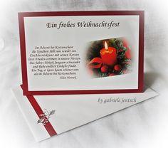 Weihnachtskarten - Weihnachtskarte Karte Weihnachten  - ein Designerstück von Gabriele-Jentsch bei DaWanda