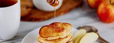 Jablkové lievance | Mliečna rodina Pancakes, Breakfast, Food, Basket, Morning Coffee, Essen, Pancake, Meals, Yemek