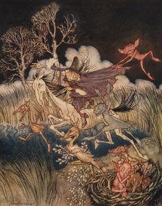 Arthur Rackham – The Legend of Sleepy Hollow.