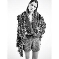 "Alanui on Instagram: ""Alanui FW20⠀⠀⠀⠀⠀⠀⠀⠀⠀ #Alanui #FW20"" Best Of Fashion Week, Live Fashion, Fringe Cardigan, Knit Cardigan, Fashion News, Runway Fashion, Fashion Trends, Vogue Paris, Pret"