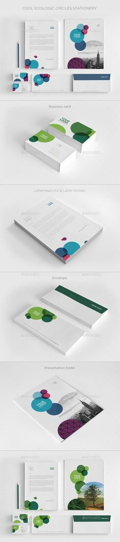 Cool Ecologic Circles Stationery