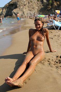 Young Swinger Girlfriend on Beach