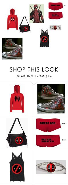 """""""Dead pool stuff"""" by alyssaandilovewwe ❤ liked on Polyvore featuring Converse and Marvel Comics"""