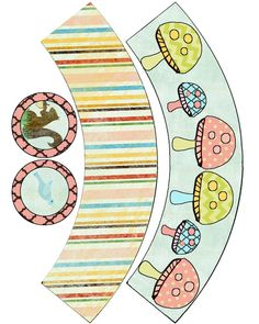 Food Art Party: Summer Mushroom Cupcake Wrappers Freebie
